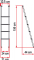 Fiamma Deluxe 4B Bunk Ladder, Caravan Motorhome equipment and accessories - Grasshopper Leisure